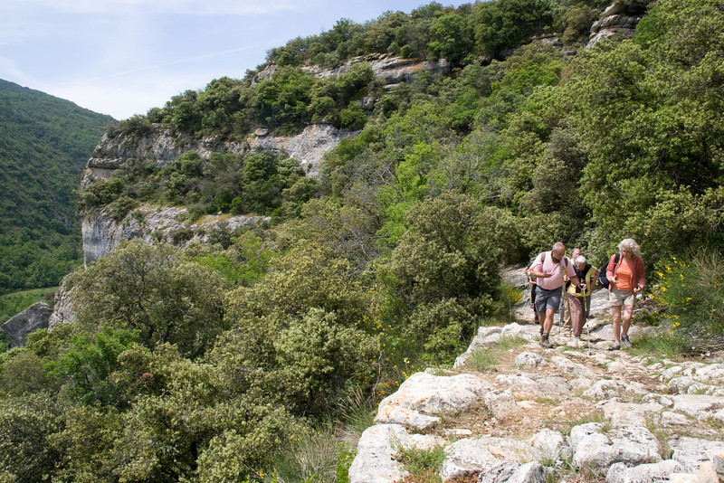 Wayfarers walker(s) in the Luberon, Provence, France, Europe.