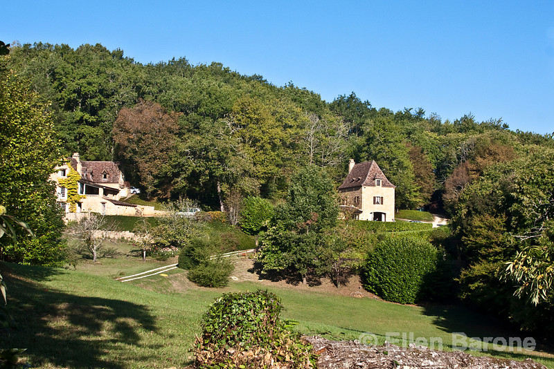 Country manor home, Dordogne River valley, France.