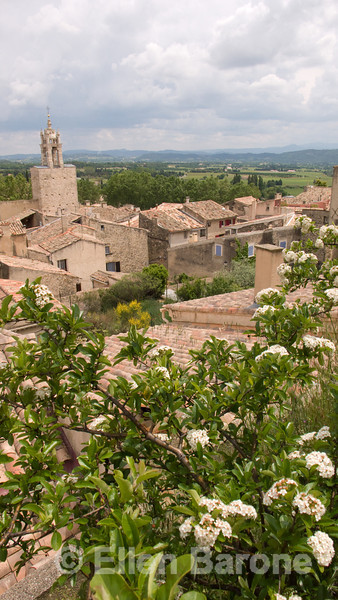 Overview of the pretty Luberon village of Cucuron, Provence, France, Europe
