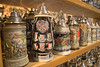 Beer steins, souvenirs, Hofgut Sternen, Black Forest, Germany, Europe.