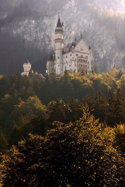 King Ludwig's famous fairy tale Castle Neuschwantein, Bavaria, Germany, Europe.