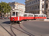 The best way to circumnavigate the Ringstrasse is on a city tram, Vienna (Wien), Austria, Europe.