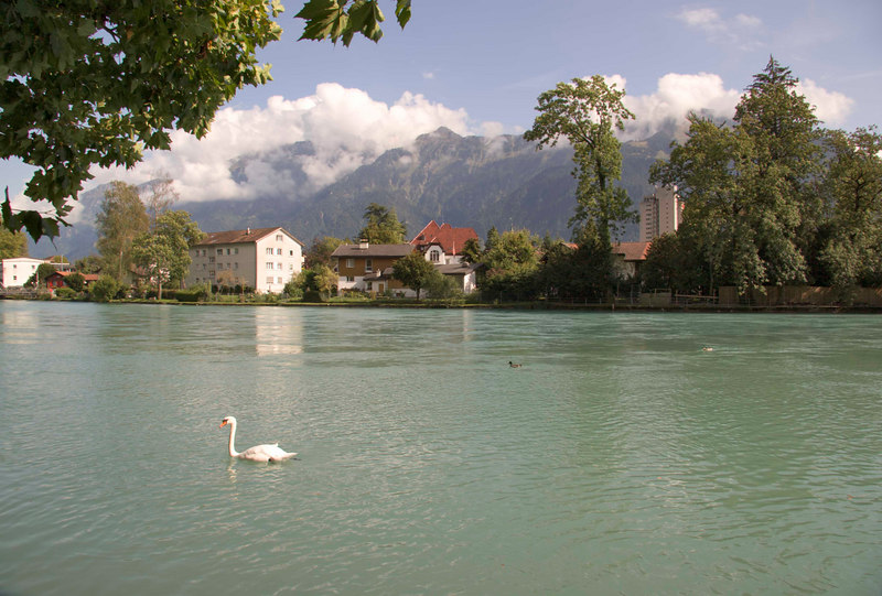 Lake Thuner, Interlaken, Switzerland, Europe.