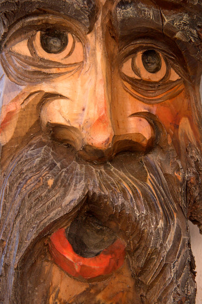 Woodcarving, Oberammergau, Bavaria, Germany, Europe.