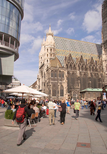 St. Stephan's Cathedral and Graban pedestrian area, Vienna (Wien), Austria, Europe.
