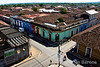 City scenes, colorfully painted buildings, overview from La Merced bell tower, Granada, Nicaragua.