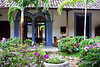 Garden courtyard, restored colonial mansion, Hotel La Bocona, an intimate six guest room boutique hotel in Granada, Nicaragua, Central America.