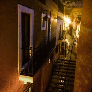 Night Lighting of the city of Guanajuato, Mexico