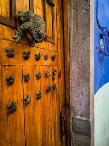 Frog-shaped door knocker, Guanajuato, Mexico.