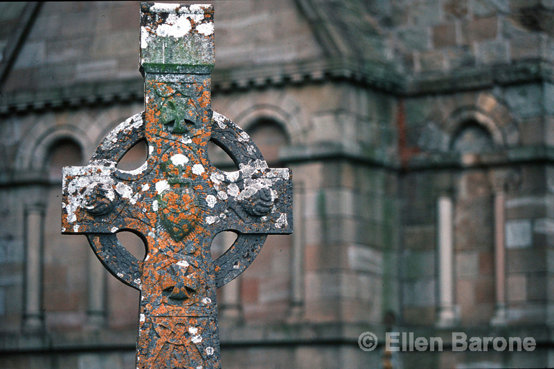 Celtic cross, the Rock of Cashel, Cashel, County Tipperary, Ireland