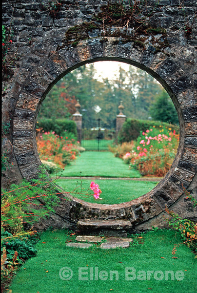 garden moongate, Mount Juliet Conrad Estate, 1500 acres of lush parkland, Thomastown, County Kilkenny, Ireland