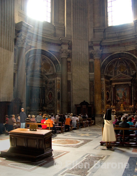 sanctuary interior, Saint Peter's Basilica, the Vatican, Rome, Italy