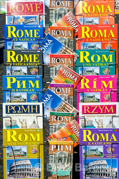 tourist brochures in every language, Rome, Italy