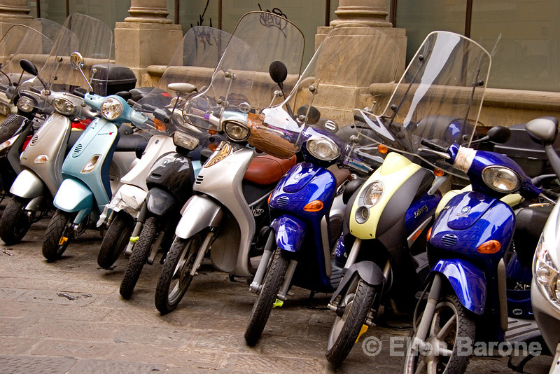 ubiquitous motor scooters, an Italian icon, Florence (Firenze), Tuscany, Italy
