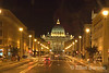 Saint Peter's at night, Rome, Italy