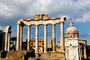 the Temple of Saturn, Foro Romano (the Roman Forum), Rome, Italy