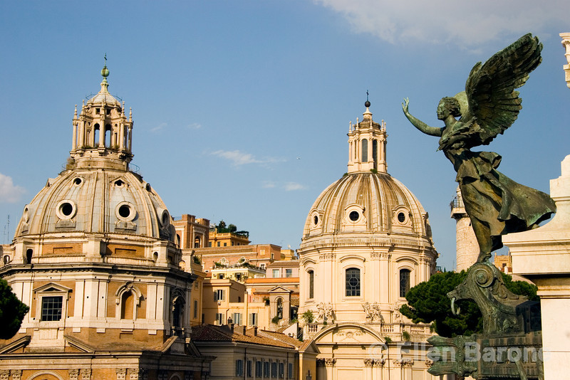 a stunning skyline as viewed from the Victor Emmanuel Monument on Capitoline Hill off Piazza Venezia, Rome, Italy
