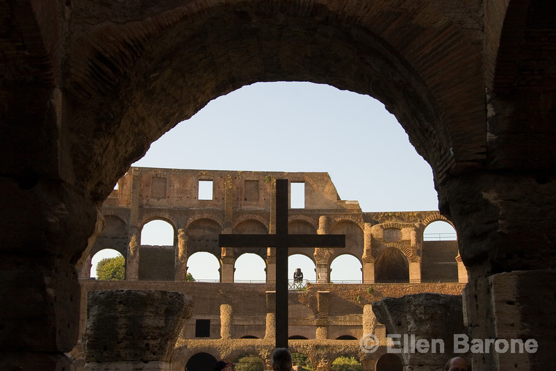 architectural detail, the Colosseum, Rome, Italy