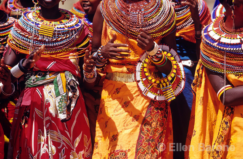 Samburu dancers, cousins of the Masai, Samburu National Reserve, Kenya, East Africa.