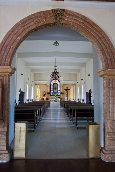 Mission church interior, Todos Santos, Baja Sur, Mexico