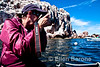 Photographing at Los Isoltes, Sea of Cortez, Baja California, Mexico.