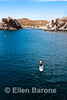 Paddle boarding, Punta Colorado, Sea of Cortez, Baja California, Mexico.