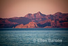 Sunset mountain scenic, Sea of Cortez, Baja California, Mexico.
