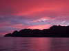 Sunrise paints the bay with dramatic color, Puerto Agua Verde, Sea of Cortez, Baja California Sur, Mexico.