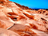 Scenic red sandstone at Puerto Los Gatos, Sea of Cortez, Baja California, Mexico.