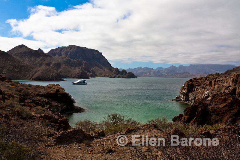 Safari Quest at anchor, Sea of Cortez, Baja California, Mexico.