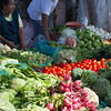 Vegetable market vendors, weekly tianguis, Ajijic, Jalisco, Mexico.