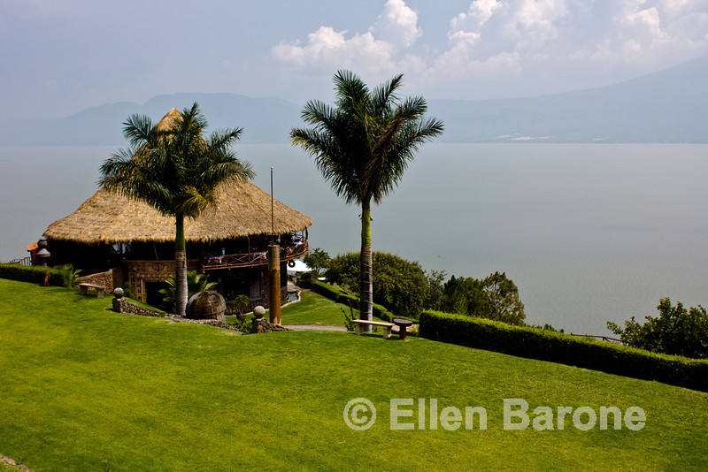 Lago de Chapala (Lake Chapala) as viewed from Monte Coxala Spa, San Juan Cosala, Jalisco, Mexico.