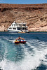 Wake tubing, Safari Quest passenger Allan Smith, Sea of Cortez, Baja California, Mexico.