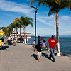 Sunday afternoon at the malecón (promenade), Lago de Chapala (Lake Chapala), Ajijic, Jalisco, Mexico.