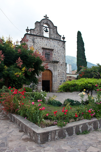 Stone chapel at the plaza, Ajijic, Jalisco, Mexico.