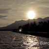 Lago de Chapala (Lake Chapala) at sunset, mountains and lake, Ajijic, Jalisco, Mexico.