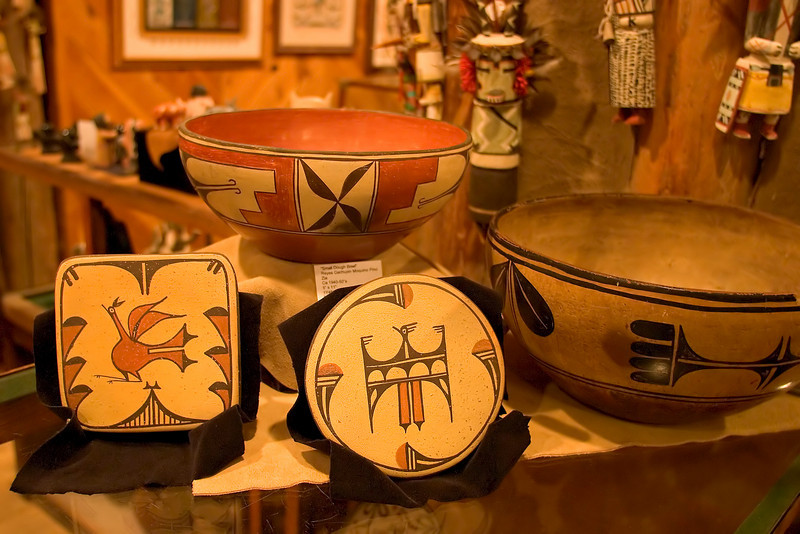 Native American arts and crafts, Case Trading Post Museum Store, Wheelwright Museum Store, Museum HIll, Santa Fe, New Mexico, USA.