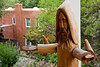 st. francis, wood carving, historic chapel, Bishop's Lodge Ranch Resort & Spa, Santa Fe, New Mexico, USA