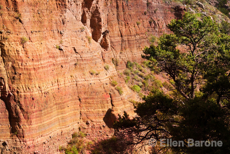 Frijoles Canyon, Falls trail, Bandelier National Monument, Jemez Mountains, New Mexico.