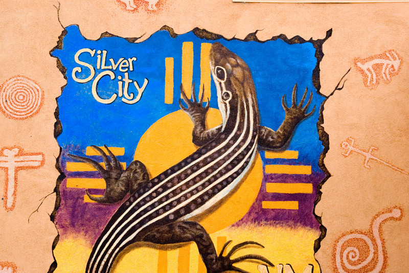 Public wall mural, Silver City, New Mexico, USA