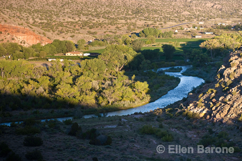 Overview, Rio Chama valley, Abiquiu, New Mexico.