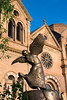 Bronze, Saint Francis of Assisi Dancing on Water by Monika B. Kaden, St. Francis Cathedral, Santa Fe, NM