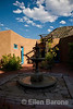 Courtyard and sky, Abiquiu Inn, Abiquiu, New Mexico,
