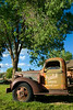 Antique truck, rural scenic, Taos, NM.