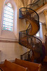 Miraculous Staircase, Loretto Chapel, Santa Fe, New Mexico.