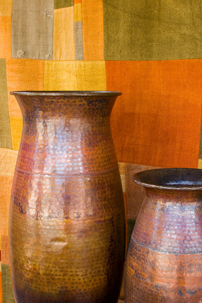 Pottery and tapestry, Santa Fe, NM.