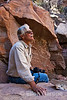 Wayfarer Jim Piros, Box Canyon trail,  Ghost Ranch, Abiquiu, New Mexico.,
