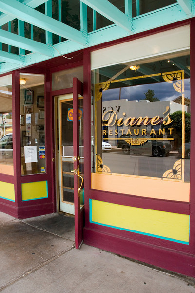 Diane's Restaurant and Bakery, a popular eatery and local favorite, Silver City, New Mexico, USA.