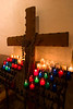 Prayer candles and cross, Santuario de Chimayo, Chimayo, NM (High Road to Taos)