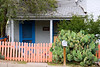 A colorfully renovated bungalow in historic downtown Silver City, New Mexico. USA